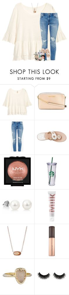 """""""we're the masters of our own fate, we're the captains of our own souls"""" by theblonde07 ❤ liked on Polyvore featuring H&M, MICHAEL Michael Kors, Ted Baker, Jack Rogers, NYX, MILK MAKEUP, Kendra Scott and WALL"""