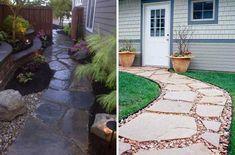 DADA IDEA: Pavaje - alei Stepping Stones, Sidewalk, Patio, Landscape, Interior Design, Outdoor Decor, Home, Nest Design, Stair Risers