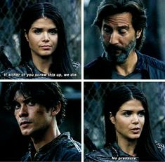 """#The100 4x01 """"Echoes"""" - Octavia, Bellamy and Kane"""