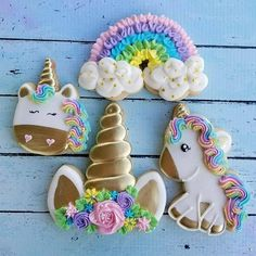 Magical Unicorn Birthday Party Iced Sugar Cookies by The Sugar Lion featured on Unicorn Cookies, Unicorn Cupcakes, Unicorn Birthday Parties, Unicorn Party, Rainbow Unicorn, Birthday Ideas, Iced Sugar Cookies, Chocolate Cookies, Unicorn Foods