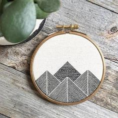 Mountains embroidery
