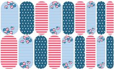 Star Spangled Hearts | Jamberry  Hearts bubble up with patriotic spirit for July 4th.  NAS#  1524358    Join my Facebook group for more designs, contests, treats, and special discounts just for members!  http://www.facebook.com/groups/snowberriesvip    #snowberriesnas, Jamberry NAS, Nail Art Studio, patriotic manicure, July 4th nails