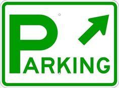 Lyle D4-1R45-24HA Parking Sign, 18 x 24In, GRN/WHT, Prkg