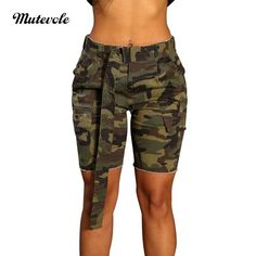 PINLI Camouflage Womens Denim Shorts Sexy Casual Summer Stretch Plus Size high Waisted Beach Jeans Shorts Capri Army Pants Outfit, Army Shorts, Hot Shorts, Denim Shorts, Spring Shorts Outfits, Short Outfits, Summer Shorts, Summer Outfit, Cargo Shorts Women