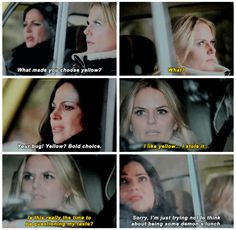 """#OnceUponATime 4x13 """"Darkness on the Edge of Town"""" - Regina and Emma"""