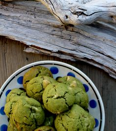 cookies au thé vert matcha, amande caramélisé et chocolat blanc