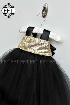 Gold and white flower girl dress gold and black flower girl dresses black gold flower girl tulle tutu dress mightylinksfo