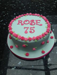 Cath Kinston inspired birthday cake