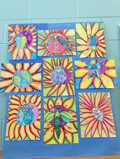Apex Elementary Art - Art to go with poetry.