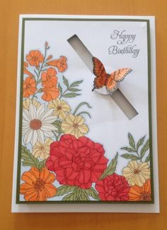 Stampin' Up Corner Garden Stamp with Papillon Potpourri slider