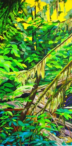 """Cathedral Grove"" 12 x 24 Acrylic by Bob Hastings $225"