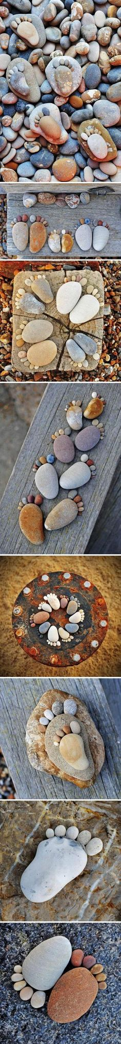footprints! Something for Mom to do with all her rocks!