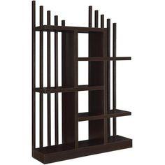 Coaster Vertical Back Bookcase, Brown