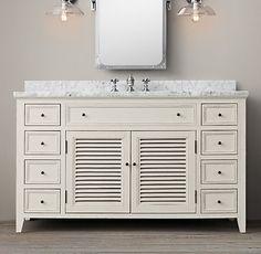Extra Wide Double Bathroom Vanity beautiful bathroom vanity and matching side cabinets #bathroom