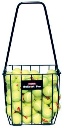 Tourna Ballport Pro 85 Cart by Unique Sports Products, Inc. $29.99. Extra durable. Holds 85 balls. Great for picking up tennis balls. Tourna Ballport Pro holds 85 balls. Heavy duty construction for durability. Portable and easy to use.