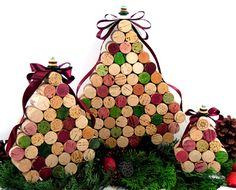 wine cork 'christmas tree' centerpiece