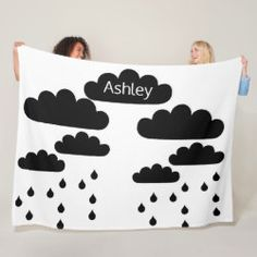 Shop rainy day minimalist fleece blanket created by BeautifulAndFree. Modern Blankets, Cozy Blankets, Kids Bedroom, Bedroom Decor, Edge Stitch, Gender Neutral, Thank You Cards, Toy Chest, Create Your Own