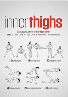 In thighs workout. Women's fitness tips.