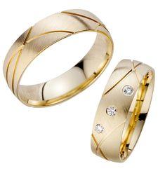Gravurarten für Trauringe Eheringe Gold Gelbgold HR 187