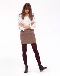 Carole Mr Toad Brown Tweed Mini Skirt   Joules US