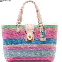 Coach straw bags