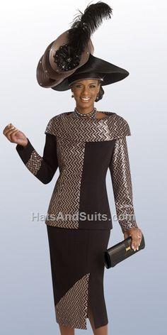 Donna Vinci KNITS 13092 Fall & Holiday 2015, 2 Pc. Jacket & Skirt Set