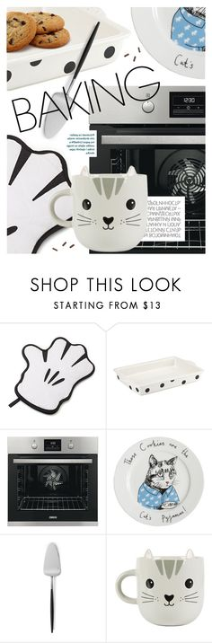 """""""Let's Get Baking!"""" by cultofsharon ❤ liked on Polyvore featuring interior, interiors, interior design, home, home decor, interior decorating, Kate Spade, Jimbobart, Cutipol and Hedi Slimane"""