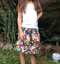 Size 6 Butterfly Funk Skirt by AnaSie