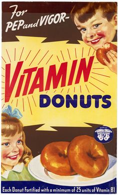 Vitamin donuts, 1940-1942, from the National Archive