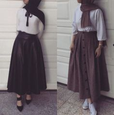 New Ideas For Skirt Outfits For Winter Street Style Shoes - Skirt,, - Dress Modern Hijab Fashion, Hijab Fashion Inspiration, Muslim Fashion, Modest Fashion, Skirt Fashion, Fashion Outfits, Gucci Fashion, Jeans Fashion, Modest Dresses
