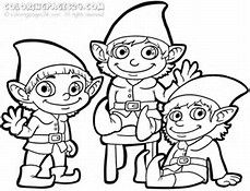 Free Printable Christmas Elf Pictures Clip Art Coloring Pages For Kids Online