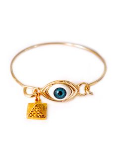 The All-Seeing Eye and Pyramid Bangle by JewelMint.com, $24.00