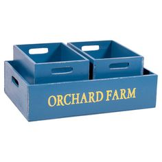 Store freshly-picked fruit or your favorite magazines in this set of 3 wood boxes, showcasing a nesting design and orchard-inspired motif.  ...