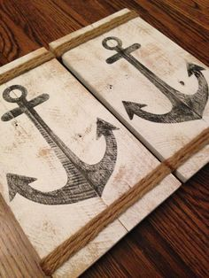 GJH Designs :: Anchor Collection Our beautifully handcrafted distressed anchor piece ~ the perfect addition to any mantle or shelf! GJH Designs