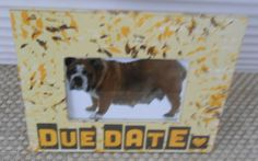 DUE DATE by FramesByDevora on Etsy Dog Frames, Due Date, Dog Food Recipes, Dating, Make It Yourself, Pets, Unique Jewelry, Handmade Gifts, Vintage