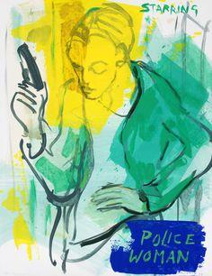 Sef Berkers. STARRING paintings. Police Woman. 2020, 65 x 50 cm / 25.5 x 19.5 in. $ 645.00 Star Painting, Film Images, Human Condition, Film Posters, Police, Paintings, Woman, Stars, Inspiration