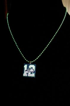 Seattle Seahawks 12th Man Necklace by DesignsByLisaK on Etsy, $10.00