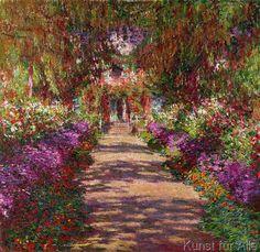 Claude Monet - A Pathway in Monet's Garden, Giverny, 1902