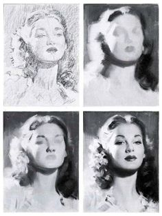 Andrew Loomis,one of my favorite book authors on art,drawing techniques. Arte Inspo, Kunst Inspo, Painting Process, Painting & Drawing, Book Drawing, Art Sketches, Art Drawings, Charcoal Art, Art Studies