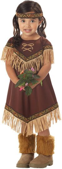 Little Native American Indian Princess Costume this little girl looks so cute. I had a doll that looked just like her when I was little.