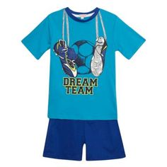 Boy's blue 'Dream Team' pyjama set at debenhams.com
