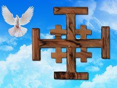 Jerusalem Cross by Jesusolivewood on Etsy, $10.00
