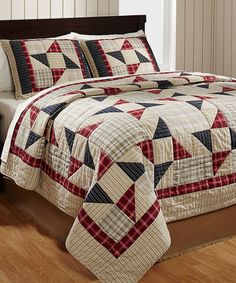 Look at this American Pinwheel Quilt Set on #zulily today!