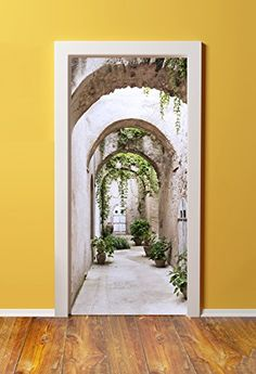 WindowPix 32x80 3D Door (Sticker) Murals - PEEL & STICK - Made from tear-proof, washable, durable material Arched Pathway To Gardens Windowpix http://www.amazon.com/dp/B010O5JPPQ/ref=cm_sw_r_pi_dp_VVZ2wb1TCPWNY