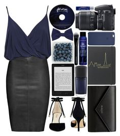 """Be happy... not because everything is good, but because you can see the good in everything."" by perfectharry on Polyvore featuring Jitrois, Nine West, MAC Cosmetics, Balenciaga, Bumble and bumble, Givenchy, Nikon, American Apparel and Kiehl's"