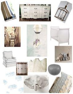 my nursery inspiration collage