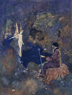 Ariel: All prisoners, sir, In the line-grove which weatherfends your cell - Shakespear's Comedy of The Tempest, 1908