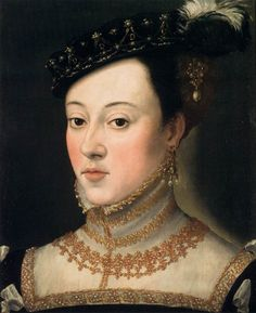 Probable portrait of Anna Jagiellon, daughter of Poland's King Sigismund I the Old. It is discussed that it may be Barbara Radziwill, Anna's sister-in-law. By Arcimboldo
