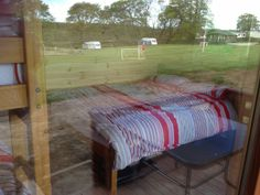 Double bed and bunk beds with bed linen, beds are made up for your arrival
