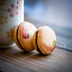 Coconut Rose Chocolate Macarons